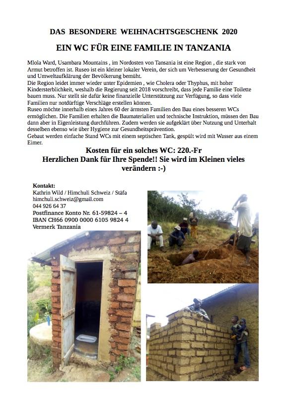 WC für Tanzania